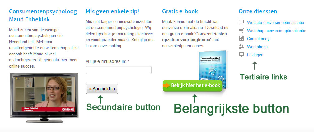 button priotiteit