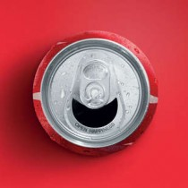 cocacola smiling can